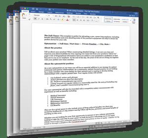 Description Templates for Hiring an A+ Optometrist (3 pack)